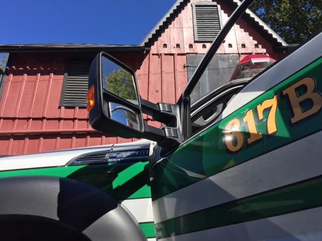 Close-up photo of the ambulance