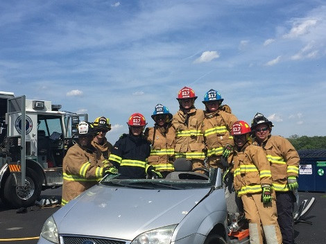 Team during extrication class