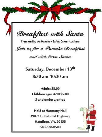 Thumbnail picture of the Breakfast with Santa flyer